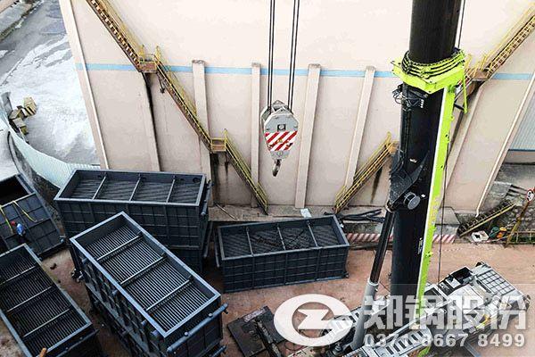 旗滨集团玻璃窑余热锅炉安装现场