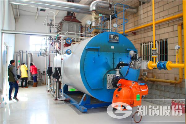 工业地暖供热锅炉安装现场